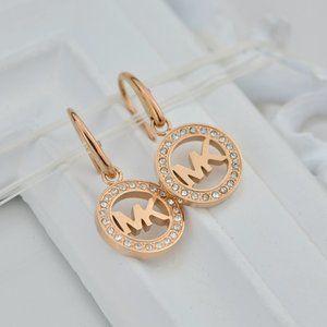 Michael Kors Fashion Zircon Logo Earrings